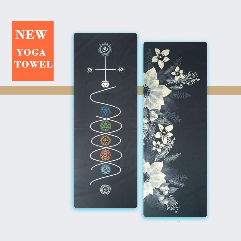 Yoga Towel Microfiber Double-sided Pattern Non Slip 185*65 CM Yoga Mat Towel Pilates Exercise Mat Cover Soft Yoga Blanket personality bikini boho tropical coconut tree round beach towel scarf throw yoga mat