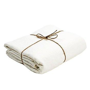 Washed Linen Sheet Queen Bed Fitted Sheet White Pure Linen Sheets Children Bedsheet Flax FLinen Bedding 152 x 203 x 43 cm
