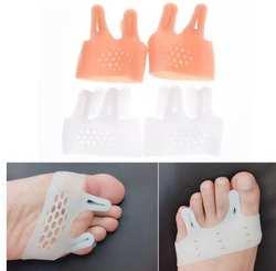 Пар/лот 100 силиконовый носок разбрасыватель вальгусной борион корректор Guard Toe Выпрямитель Spacer Thumb Bone подтяжки поддерживает