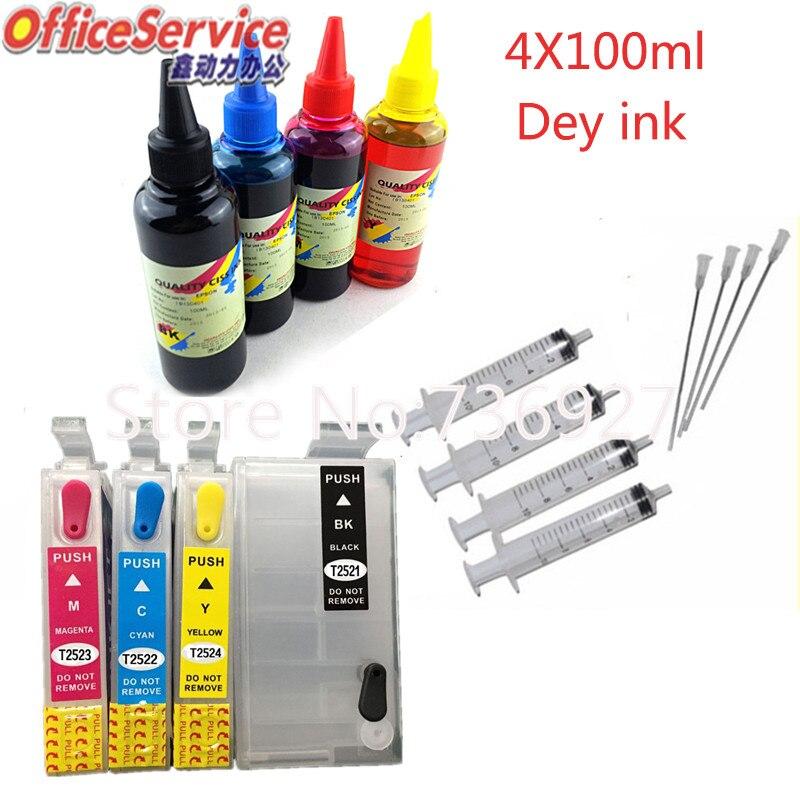 Non OEM Epson T252XL WorkForce WF-3620 WF-3640 WF-7110 WF-7610 WF-7620 8 Ink