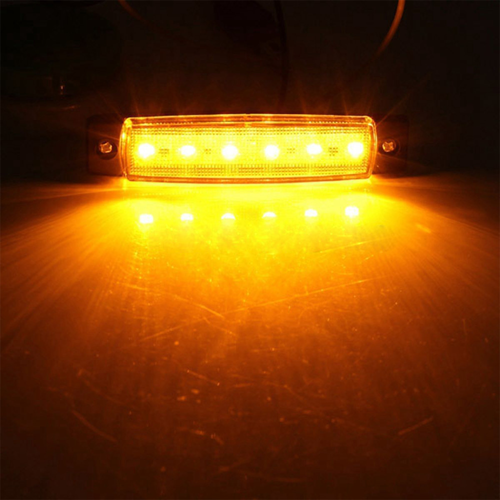 Image 3 - 10pcs Yellow Car External Lights LED 24V 6 SMD LED Auto Car Bus Truck Wagons Side Marker Indicator Trailer Light Rear Side Lamp-in Truck Light System from Automobiles & Motorcycles