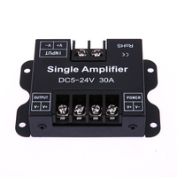 30A Colorful LED Amplifier Data Signal Repeater Channel Dimmer Power Amplifier for White LED Strip Lights DC5-24V