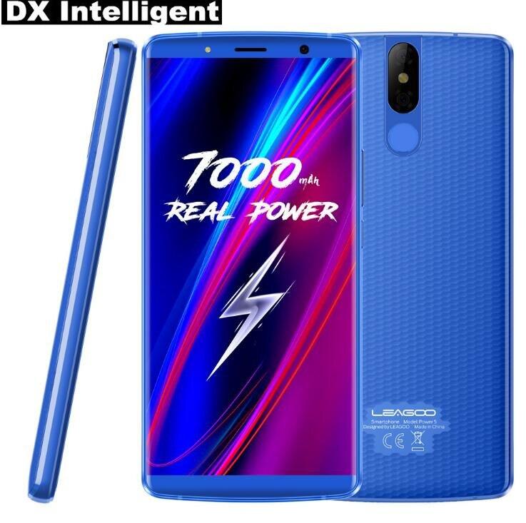 5,99 дюймов LEAGOO мощность 5 MT6763 Octa Core 7000 мАч Беспроводной зарядное устройство лицо разблокированный смартфон с поддержкой 4G 6 ГБ + 6 4G B Android 8,1 отп...