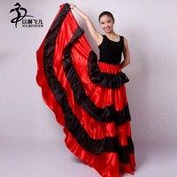 Flamenko etek Çingene Flamenko İspanya Oryantal Dansçılar Polyester Oryantal dans Etek AU