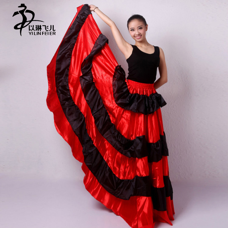 flamenco skirt Gypsy Flamenco Spain Belly Dancers Polyester Belly dance Skirt AU