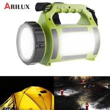ARILUX Rechargeable LED Camping Lantern Spotlight 5Modes Multi-functional Waterproof 2000mAh Power Bank Hiking Emergency