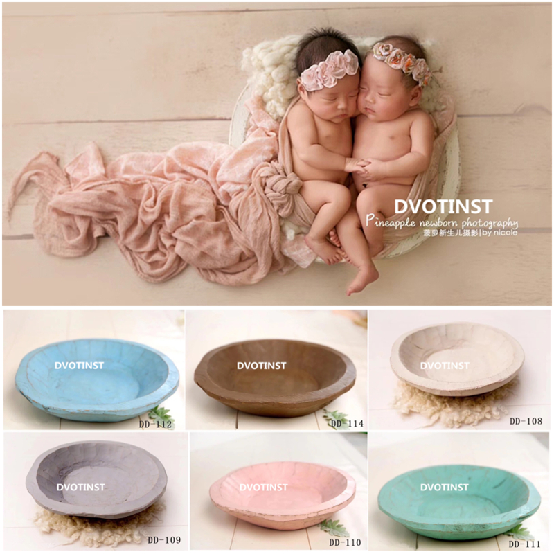 Dvotinst Newborn Photography Props for Baby Wooden Posing Plate Basket Fotografia Accessories Infant Studio Shooting Photo Props dvotinst baby photography props flowers hanging basket decoration fotografia accessories infant toddler studio shooting photo