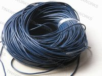 FREE SHIPPING 100m Blue Real Leather Necklace Cord/String Without Clasp 2.5mm