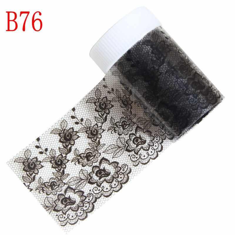 100*4cm 1 Roll Nail Art Stickers Decals Wraps Laser Paars Gestreepte Nail Transfer Folie Manicure Gereedschap Groothandel retail B73