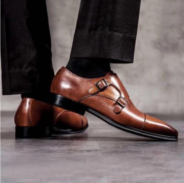 Высококачественные мужские натуральная кожа монах оксфорды обувь 2018 черный коричневый торжественное платье обувь для кроссовки ручной оф