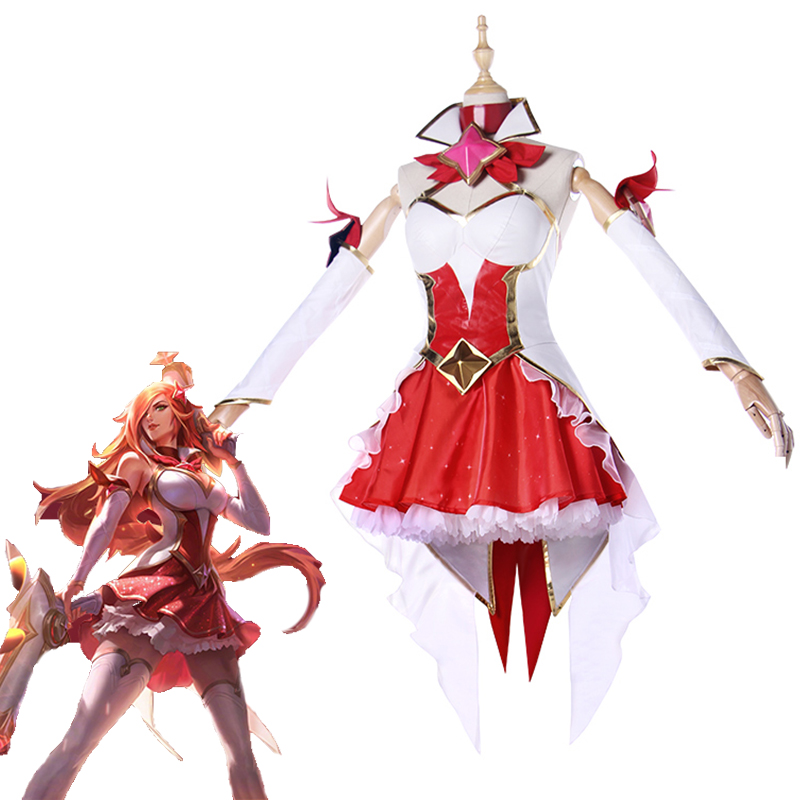 New LOL Star Guardian Miss Fortune Cosplay Costumes Halloween Carnival The Bounty Hunter Uniforms Full Set Top Skirt Custom Made