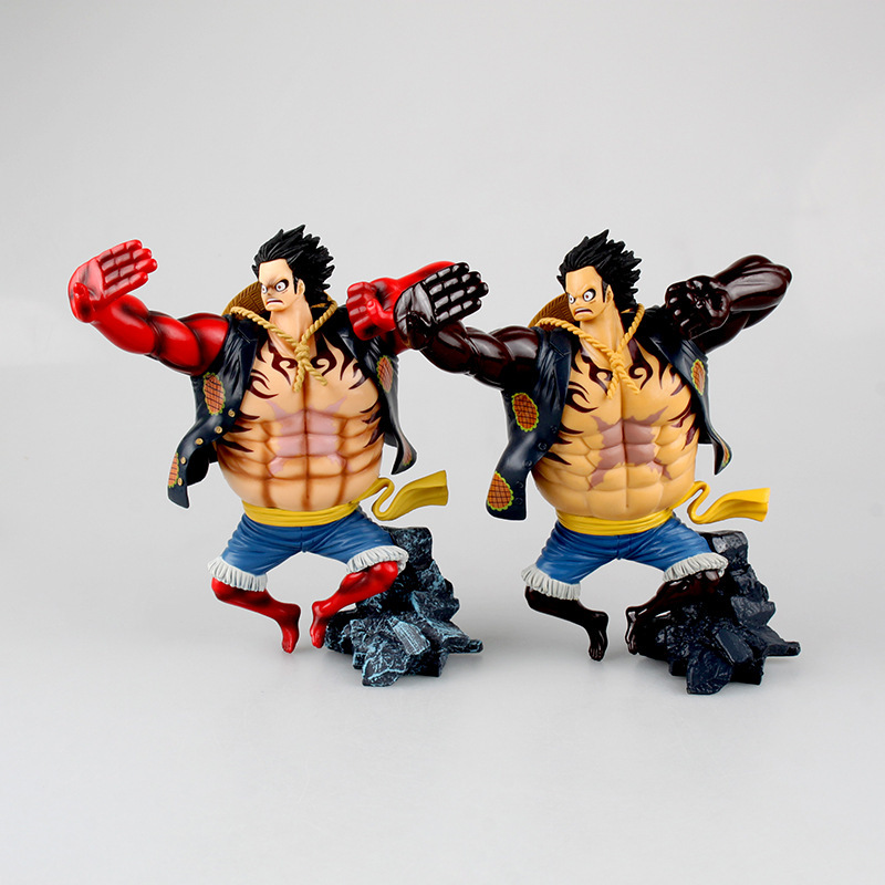 Action & Toy Figures Anime Action Figure One Piece Gear Fourth Scultures Big Monkey D Luffy Battle Fighting Special Color Ver 26cm Pvc Toys Doll Low Price