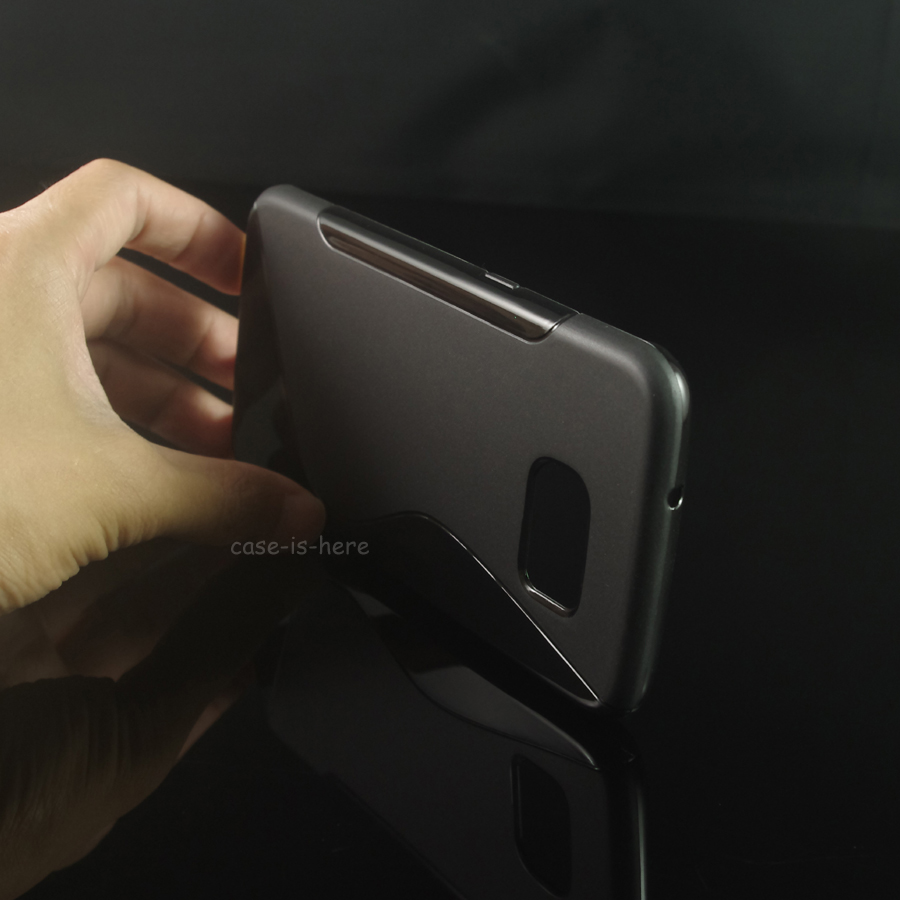 23583fc7c95 Caseishere Soft s-line Wave antideslizante TPU gel piel de la caja para  Samsung Galaxy S7 borde G935 G935F