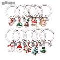 Metal Enamel Christmas Keychain & Phone Chain for Woman Diy Handmade Fashion Christmas Gift Girl 10pcs/lot C5200