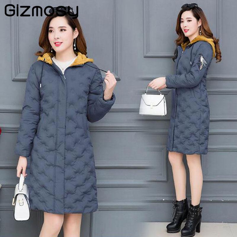 Winter Jacket women 2018 warm thicken long with hood outerwear for women coat high quality womens   parka   jaqueta feminina SY5705