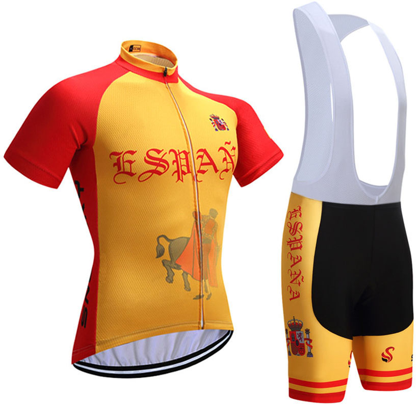 2018 Tour Spain PRO cycling Jersey 9D gel pad bibs shorts Racing Team bike shirts cycling Maillots Ropa Ciclismo
