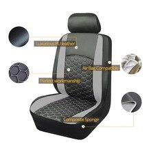 Couro do plutônio 2 frente capa de assento do carro universal se encaixa estilo do carro protetor de assento do carro