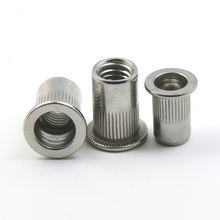 stainless steel rivet nut rivnut nutsert flange metric blind M3 M4 M5 M6 M8 M10 M12 fasteners flat head threaded insert nut metric thread m3 m4 m5 m6 m8 m10 m12 304 stainless steel blind insert rivet nut rivnut brand new