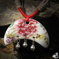 Handmade ceramic necklace  2015 new trendy tendency for women necklace for romantic chinese style  free shipping