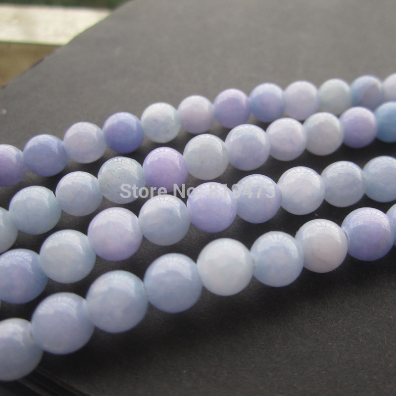 Beads & Jewelry Making Free Shipping 6 8 10mm Natural Stone Beads Bracelet Round Bosi Stone Purple Color For Jewelry Making