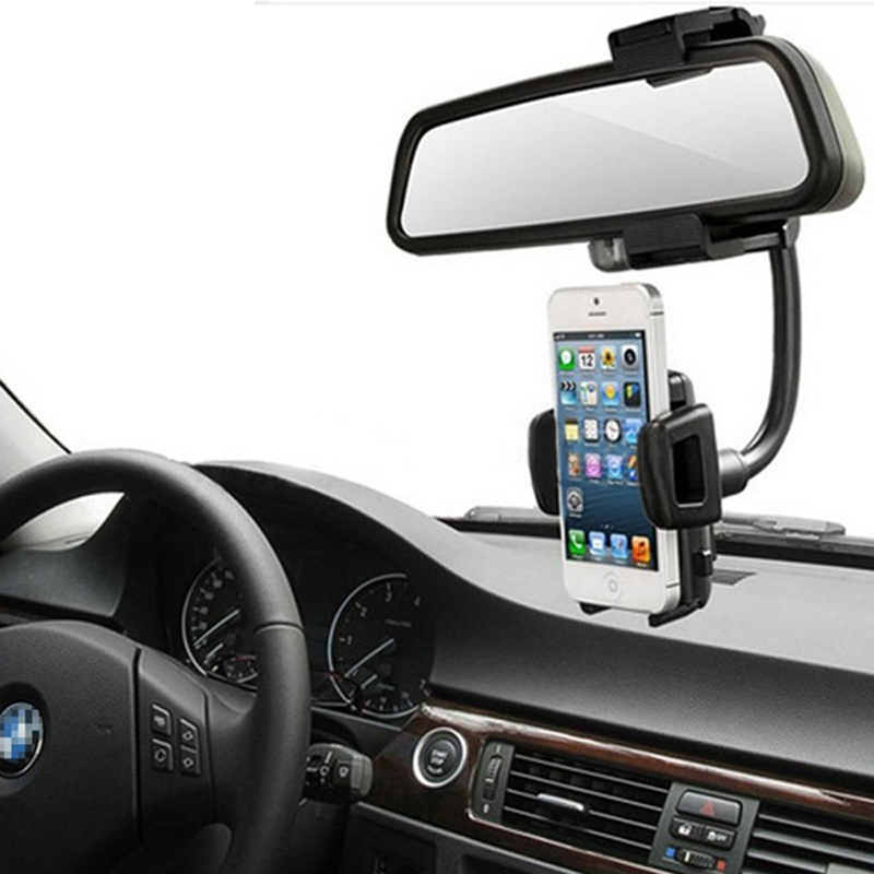 45-88mm Width Universal Car Rearview Mirror Holder for iPhone Samsung Phone Electronic equipment GPS PDA MP3