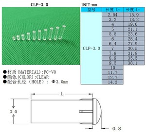 Image 2 - 100PC Clear color 2.54MM 15.9MM LIGHT PIPE FOR 3MM Led Diode LED Tube Lampshade Replace CLP 3.0