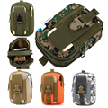 Outdoor Tactical Holster Military Hip Waist Belt Bag Wallet Pouch Purse Phone Case with Zipper for iPhone/LG/HTC
