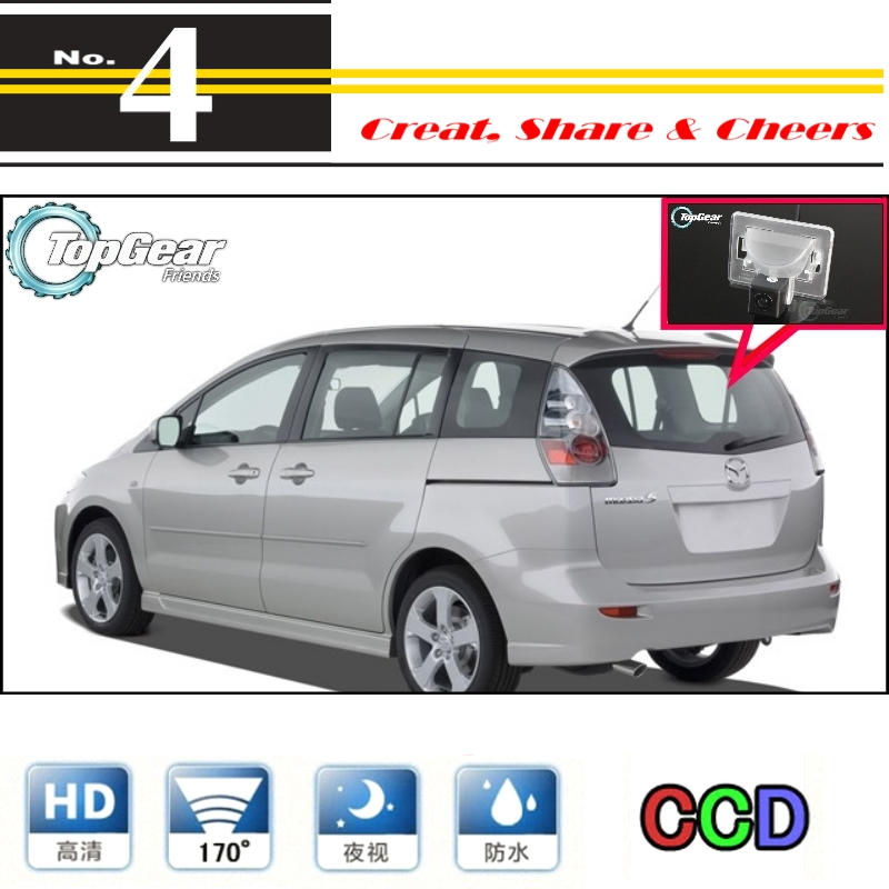 Car Camera For Mazda 5 Mazda5 M5 Premacy MK2 2005~2010 Rearview Rear View Back Up Camera For TopGear Tuning | CCD With RCA
