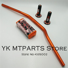 Handlebar 1-1/8 28MM with Fat Bar Pads For Dirt Bike MotorCross MX Aluminum Racing 810mm