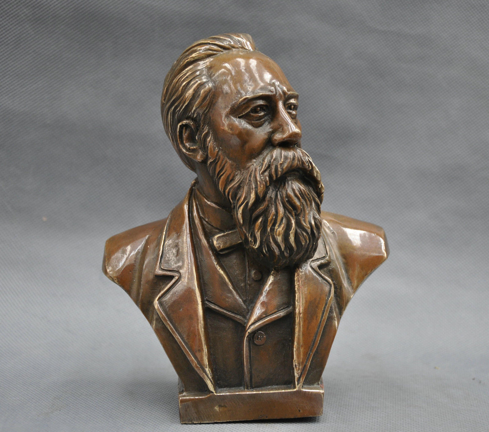 7 China Pure Bronze Communist Friedrich Von Engels Bust Statue7 China Pure Bronze Communist Friedrich Von Engels Bust Statue
