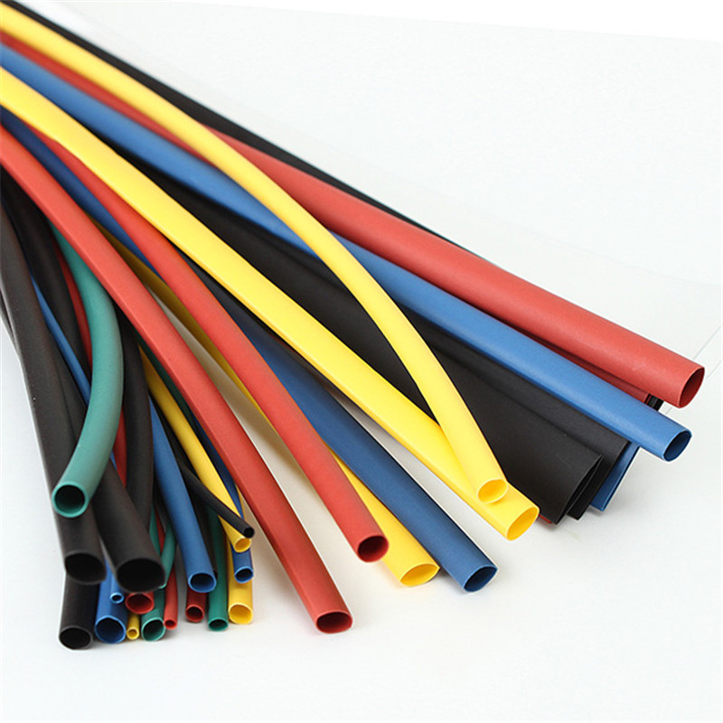 55M 6Color 1.5/2.5/3.5/4.5/5.5/6.5/8.6/10.5/12.5/15.5/22mm Polyolefin 2:1 Heat Shrink Tubing Tube Electrical Connection Sleeving