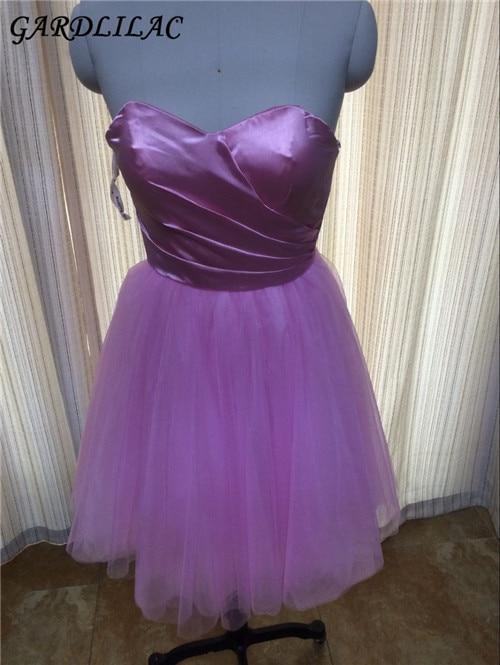 Pakaian gadis pengisi pengantin pendek merah jambu gaun pengantin pengantin pendek