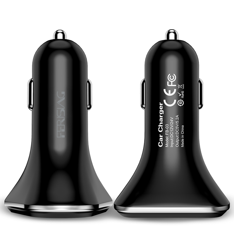 Punjenje USB auto punjača Univerzalni auto-punjač 5,2A USB punjač - Oprema i rezervni dijelovi za mobitele - Foto 2