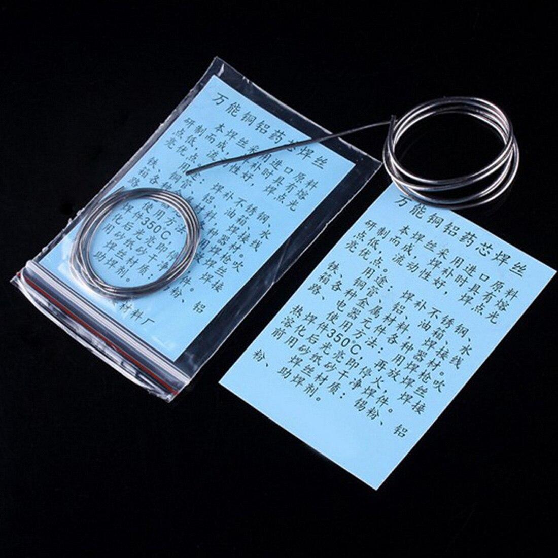 1pcs Low Temperature Copper Aluminum Cored Wire Aluminium Welding Flux Cored Soldering Rod 1.5mmx65cm/1.5mmx80cm