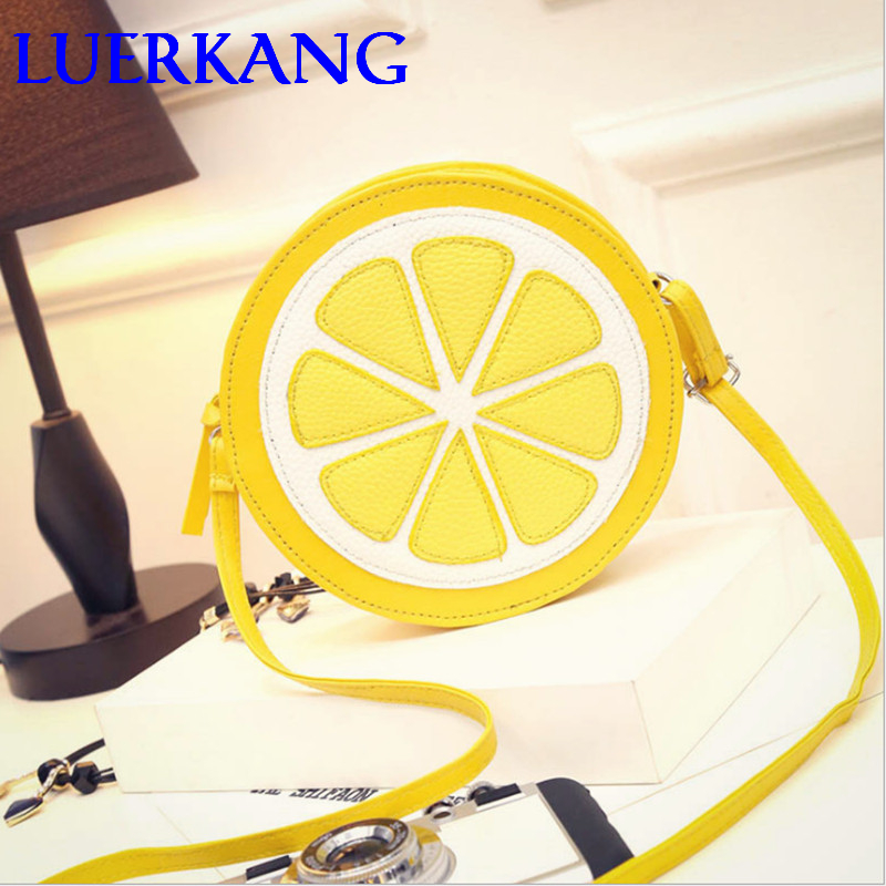 Free shipping cycle yellow women bags with high quality pu font b leather b font zipper