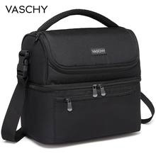 VASCHY Insulated Lunch Box Leak-proof Cooler Bag in Dual Compartment Lunch Tote for Men Women 14 Cans Wine Bag Cooler Box(China)