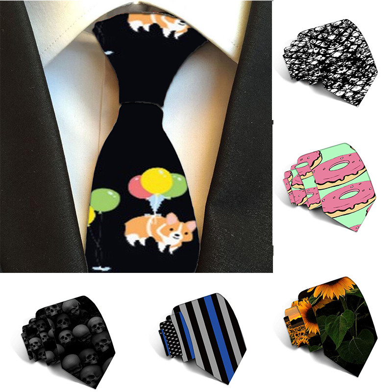 Classic Men Tie Plaid Neck Ties 8cm Printed Sunflower FlowersTies For Men Business Necktie Wedding For Party Gravatas 5S-LD17
