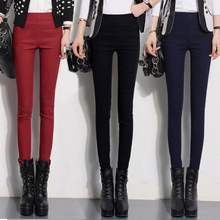 2017 new arrival women casual pants capris plus size pencil pants casual pants female trousers elastic solid leggings S-4XL