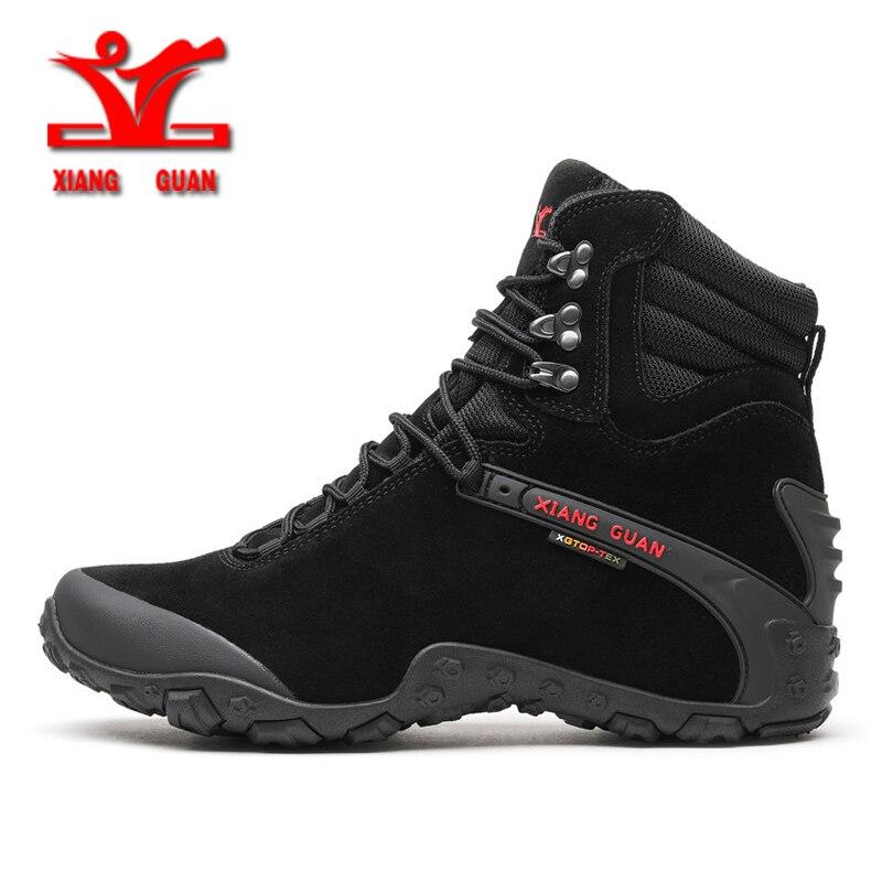 XiangGuan new winter Wear-Resistant Camping Men Boots Tactical Sneakers Climbing Waterproof Boots for men Women Hiking Footwear цена