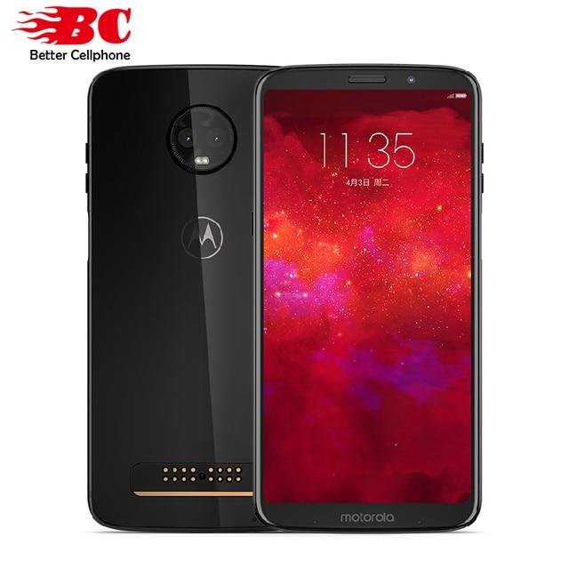 "New Motorola MOTO Z3 6GB RAM 128GB ROM LTE 6.0"" Dual camera 12MP Snapdragon 835 Octa Core Android 8.1 Dual SIM Mobile Phone"