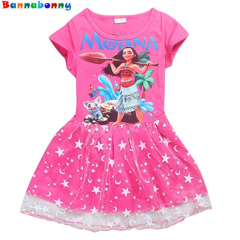 где купить  Gril Dress Summer Style Dream Tropical Ocean Dress Moana Dresses Infant Baby Girls Clothing Costume Children Party Princes Dress  по лучшей цене