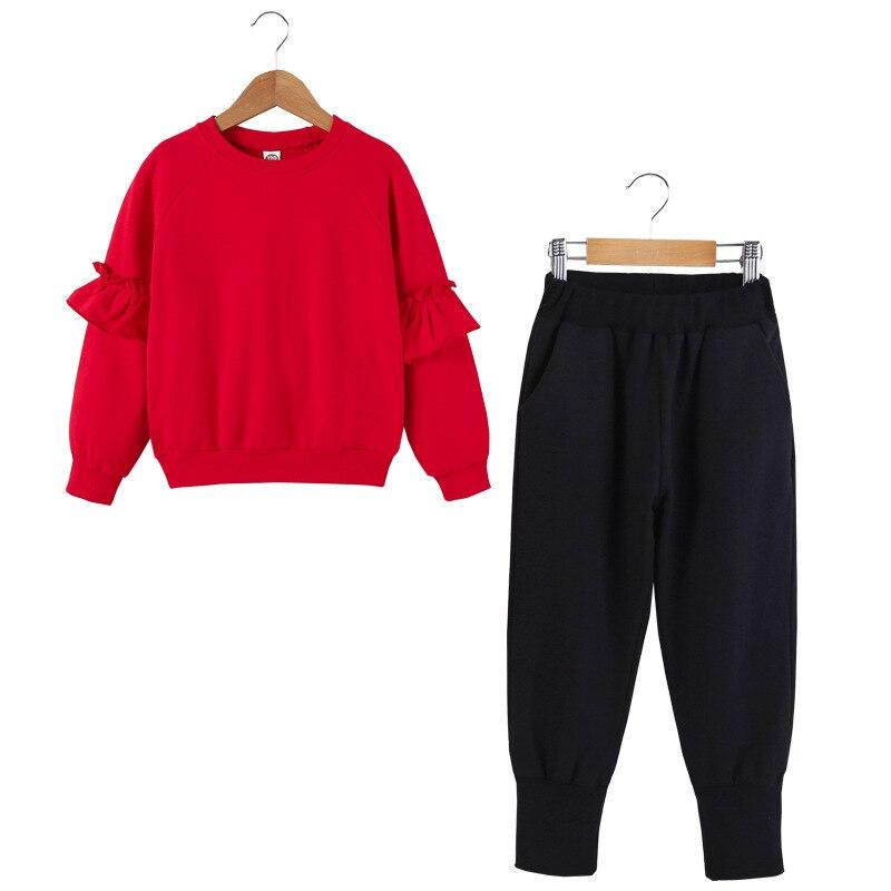 Dollplus 2018 New Sports Suit for Girls Spring Autumn Baby Girls Clothes Sweatshirt +Pants 2Pcs Sets Suit Children Clothing Sets