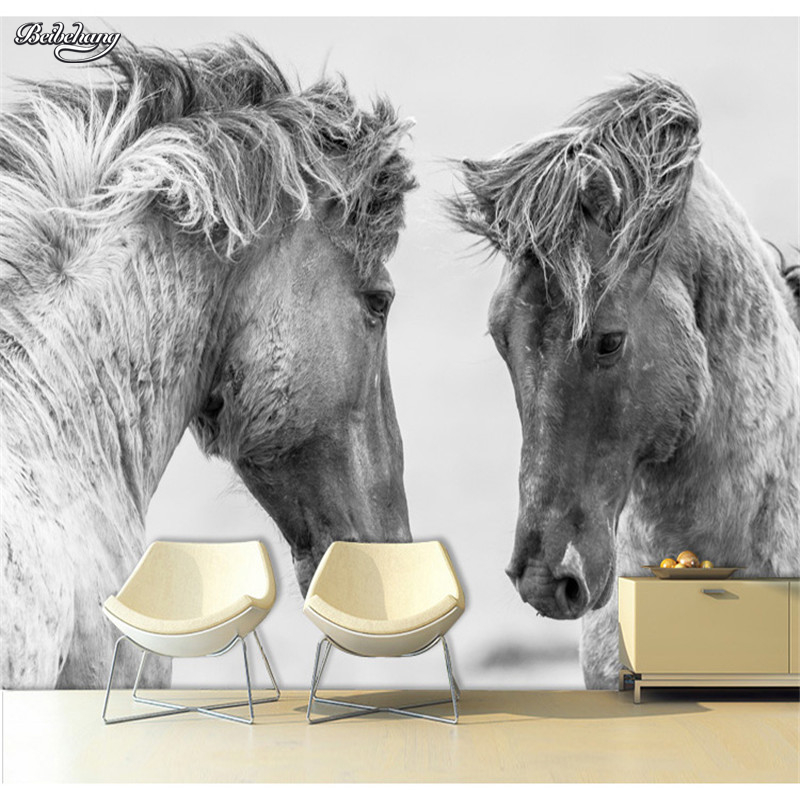 beibehang Custom 3d photo wallpaper Galloping horse 3D stereoscopic large TV sofa backdrop bedroom mural wallpaper wall mural large yellow marble texture design wallpaper mural painting living room bedroom wallpaper tv backdrop stereoscopic wallpaper