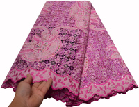 AGuipure lace fabric for big occasion 2019 cord lace african fabric 5yards
