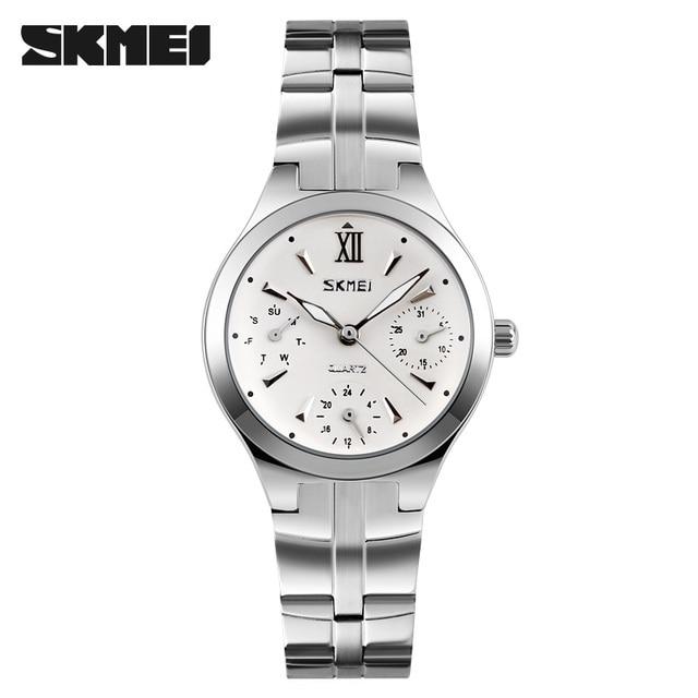 4cb27706ddc Relogio Feminino Women Analog Quartz Dial Hour Digital Watch Full Steel  Wristwatch Reloj Mujer Round Case Time Clock Lady Gift