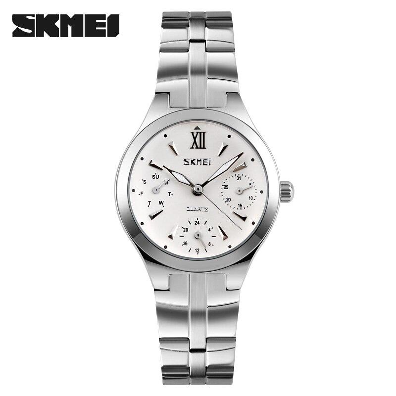 Relogio feminino Mulheres de Quartzo Analógico Dial Hour Relógio de Aço  Completo Relógio De Pulso Reloj Mujer Rodada Caso relógio de Tempo Digital  Relógio ... 20275e4cb3