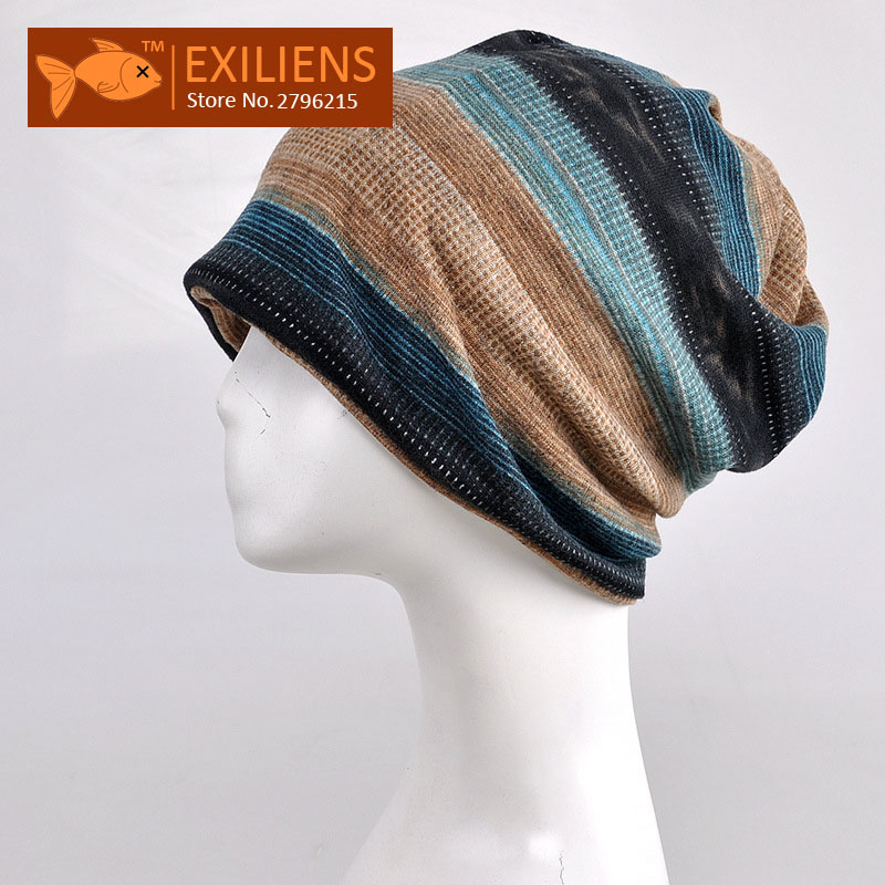 [EXILIENS] 2017 New Autumn Winter Warm Watch Cap Beanies Caps Hat For Women Men Scarf French Velvet Knit Hats Skullies Unisex women artist beret cap french style autumn