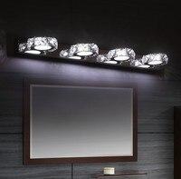 Современная мода Ванная комната зеркало настенное бра Кристалл Бра Настенные светильники светодиодные для дома Освещение в помещении ламп