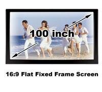 Buena visión HD 100 pulgadas alto brillo negro Velevt marco fijo plana pantalla proyector DIY Manual de la proyección Screens16 : 9 Home Cinema 3D