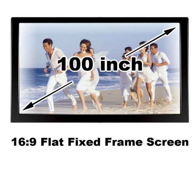 Buena visión HD 100 pulgadas brillo negro velevt fijo plana Marcos ...